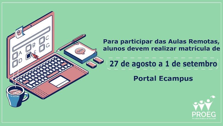 Calendário Acadêmico Especial 2020 – Ensino Remoto Emergencial