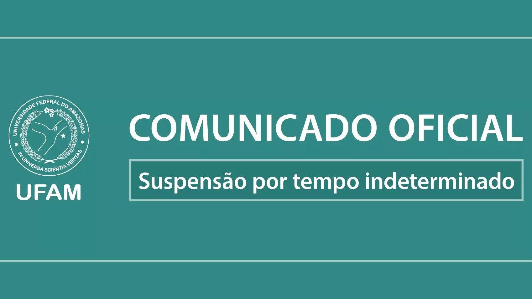 Suspensão do Calendário Acadêmico Regular de 2020 em função da pandemia de COVID-19